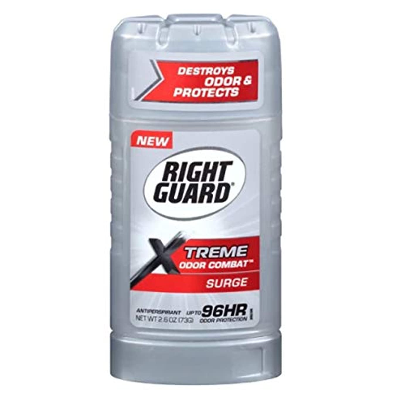 Right Guard Xtreme Odor Combat Surge Invisible Solid Antiperspirant and Deodorant - 2.6oz 海外直送品 [並行輸入品]