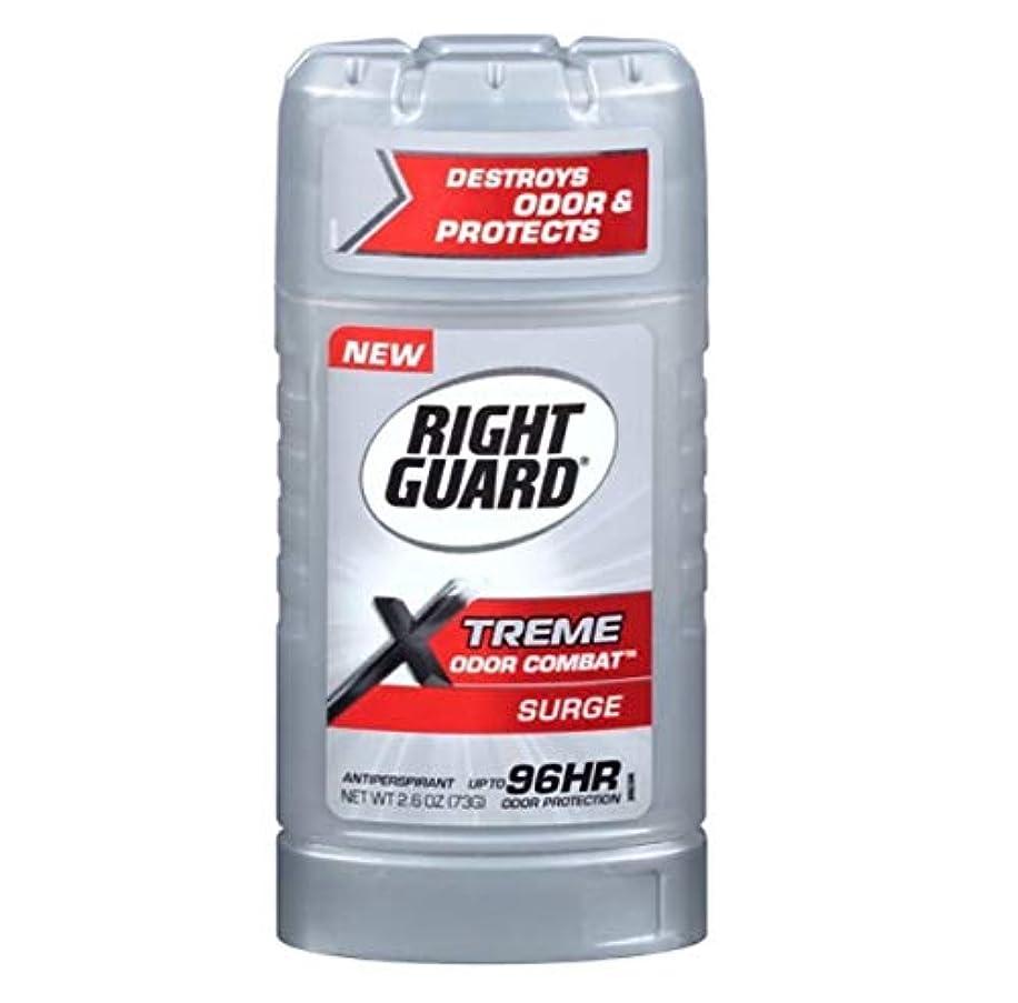 電気のピカソきらきらRight Guard Xtreme Odor Combat Surge Invisible Solid Antiperspirant and Deodorant - 2.6oz 海外直送品 [並行輸入品]