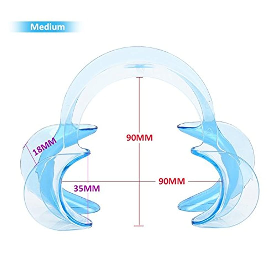 類似性人口キャロライン3サイズC形状歯科口腔内頬リトラクター唇口オープナー歯ホワイトニング10個,Blue,M