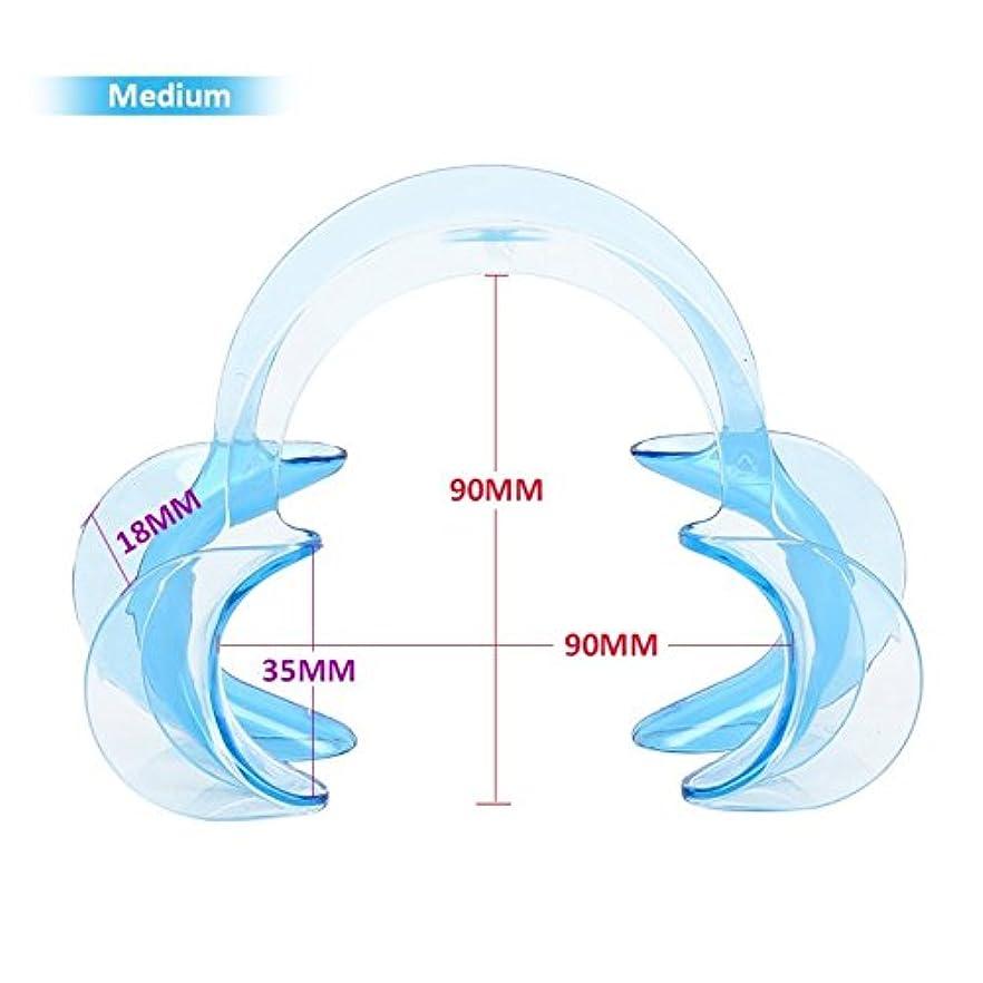 連結する素朴な温度3サイズC形状歯科口腔内頬リトラクター唇口オープナー歯ホワイトニング10個,Blue,M