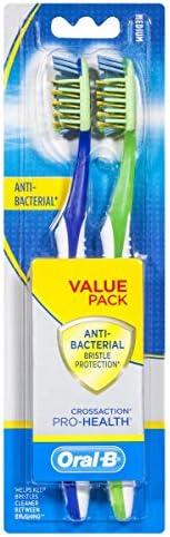 Oral-B CrossAction Pro-Health Anti-Bacterial Manual Toothbrush, Packof2