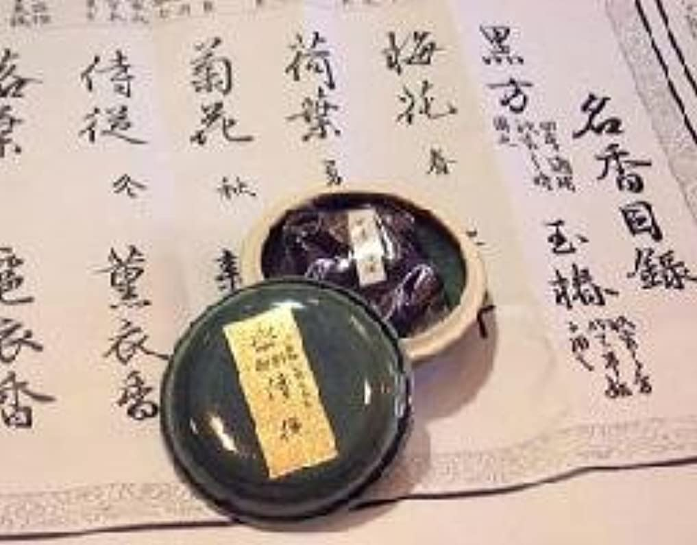 酸努力するジャンク鳩居堂の煉香 御香 侍従 桐箱 たと紙 陶器香合11g入 #505