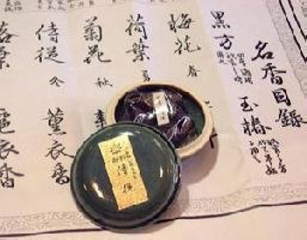 嵐ペック前売鳩居堂の煉香 御香 侍従 桐箱 たと紙 陶器香合11g入 #505