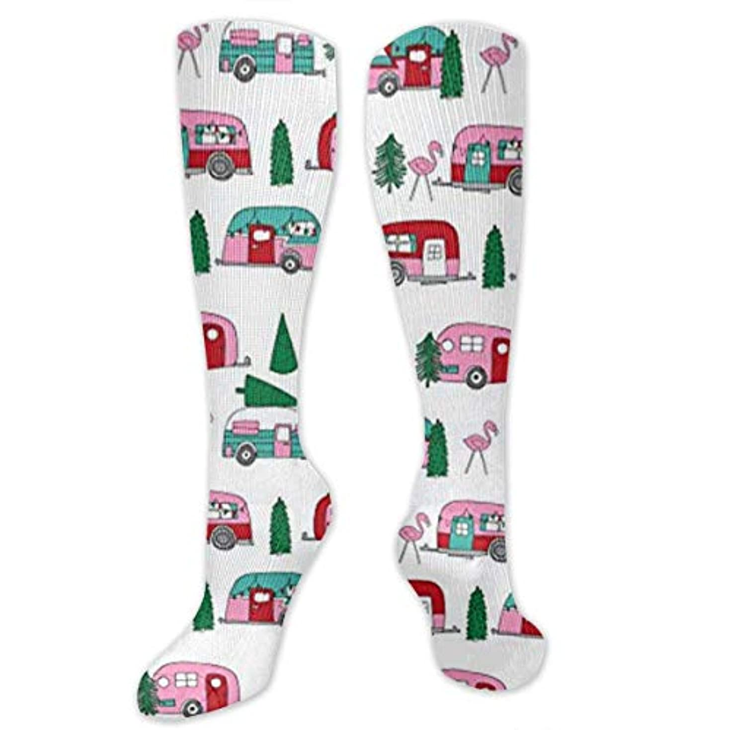 式ところで応答靴下,ストッキング,野生のジョーカー,実際,秋の本質,冬必須,サマーウェア&RBXAA Christmas Campers Xmas Holiday Socks Women's Winter Cotton Long Tube...