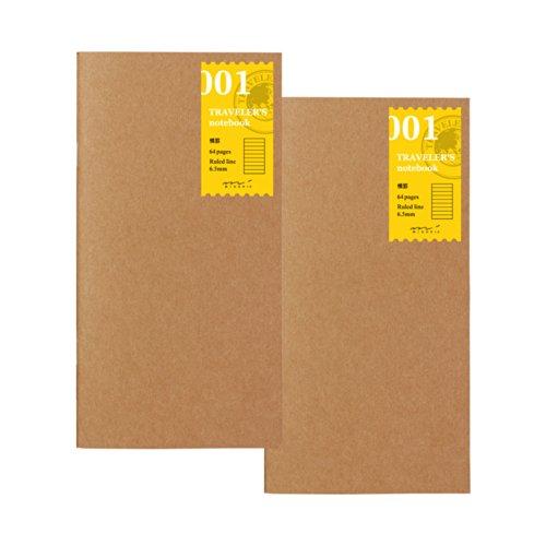 トラベラーズノート リフィル 横罫 2冊パック レギュラーサイズ 14245006