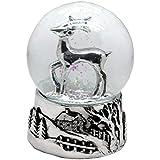 20027 【Minium Collection】銀の鹿 Snowglobeミュージカルスノーグローブ【直径】10 cm