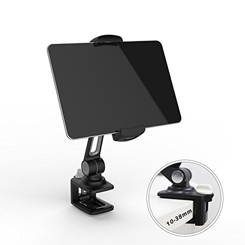 『スマホ&タブレット ホルダー/スタンド YOUNG クリップ式 NS、ipad、iphone、sony、Android、Nintendo Switch対応 4-11インチ 360度回転可能 LD-204B (黒)』のトップ画像