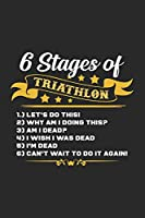 6 stages of triathlon: 6x9 Triathlon | grid | squared paper | notebook | notes