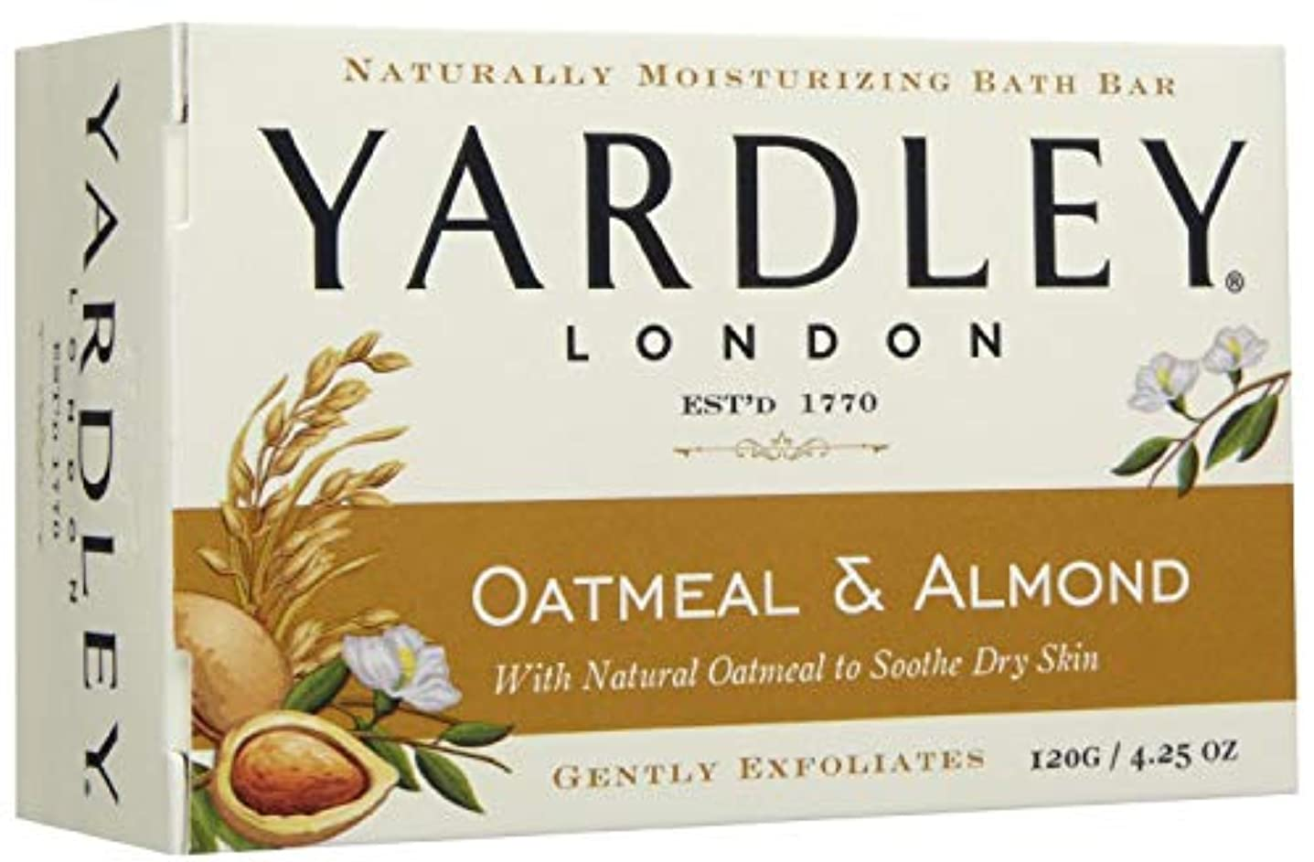 キャプション狼現実的Yardley 5587101.2X7オートミールとアーモンド当然モイスバースバー(7パック) 7のパック ヌル