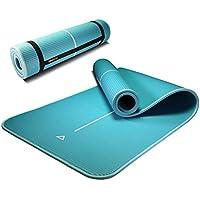 PROIRON ストレッチ マット ピラティスマット 10mm 15mm 高密度 NBR(ニトリルゴム) エクササイズ フィットネス & トレーニング向け 持ち運び用ストラップ付き