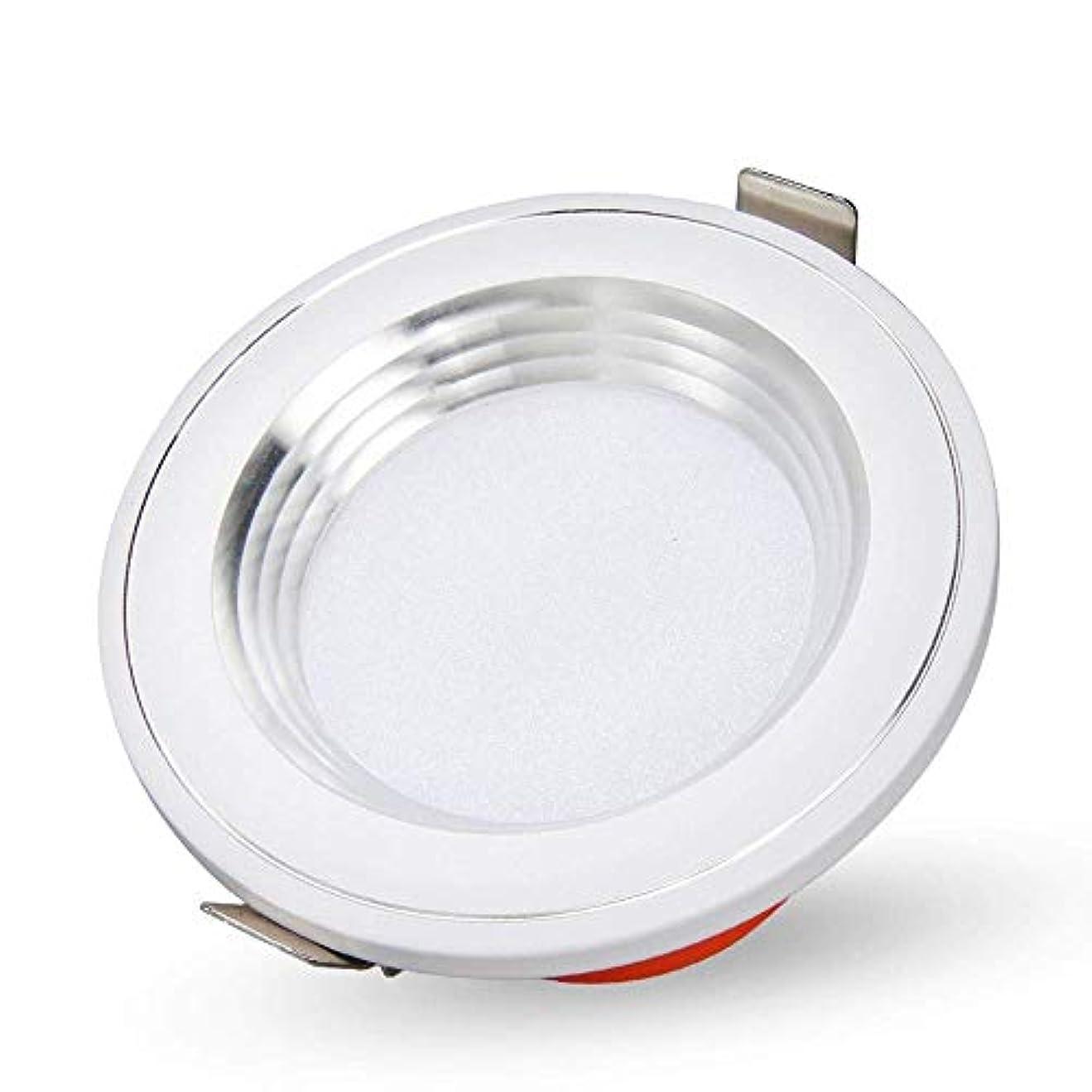 食い違い事実シュガー埋め込み型LED天井ダウンライトラウンドスポットライトリビングルームベッドルームキッチン用LEDドライバー内蔵(色:暖かい光、サイズ:3 w)