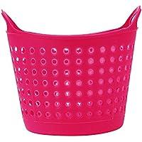 oksaleプラスチックオフィスデスクトップコレクションストレージボックスコンテナバスケットメイクアップオーガナイザー 7.5 × 4.9 x 1.4 Inches ピンク