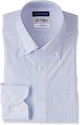 (はるやま) HARUYAMA(ハルヤマ) i-shirt 完全ノーアイロン 長袖 ボタンダウンアイシャツ M151180045 81 サックス M82(首回り39cm×裄丈82cm)