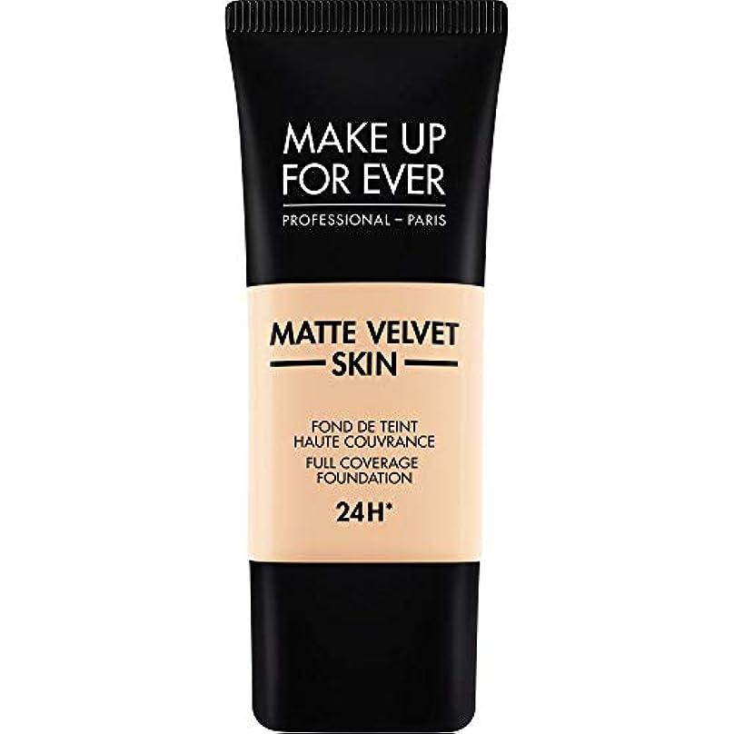 地殻ネーピアひらめき[MAKE UP FOR EVER] これまでマットベルベットの皮膚のフルカバレッジ基礎30ミリリットルのR230を補う - アイボリー - MAKE UP FOR EVER Matte Velvet Skin Full...