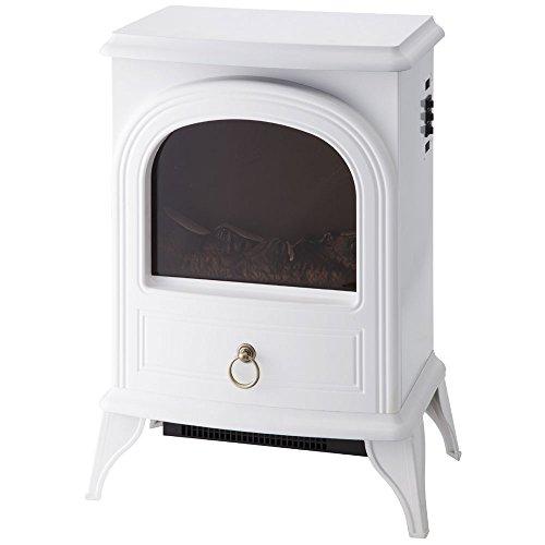IFUDO 暖炉型ファンヒーター アンティークデザイン 600W 1200W 足元暖房 (ホワイト)