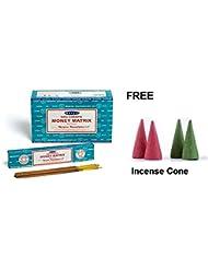 Buycrafty Satya Champa Money Matrix Incense Stick,180 Grams Box (15g x 12 Boxes) with 4 Free Incense Cone