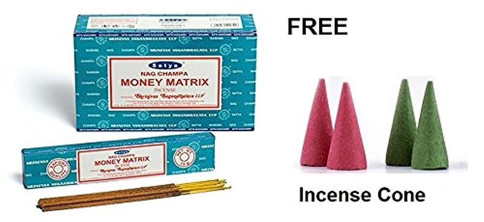 交響曲粘液一Buycrafty Satya Champa Money Matrix Incense Stick,180 Grams Box (15g x 12 Boxes) with 4 Free Incense Cone
