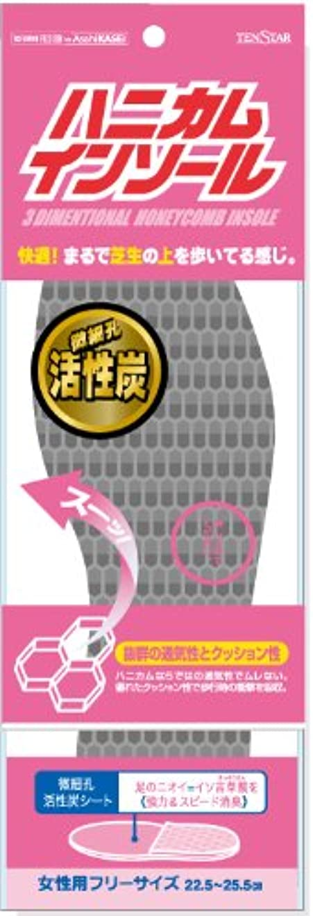 甲虫衣類磁器テンスター ハニカムインソール 活性炭<女性用>