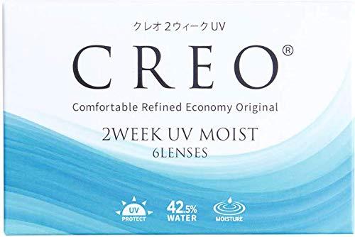 クレオ 2ウィークUVモイスト 6枚 1箱 (1日使い捨て コンタクトレンズ )【BC】8.7 【PWR】-3.25