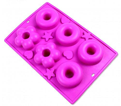 シリコン型 ドーナッツ型 リング 4個取り 花形 2個取り ハンドメイド シリコン シリコーン