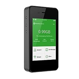 GlocalMe G2 高速4G ポケットWi-Fi ホットスポット simフリー海外100ヶ国以上フリーローミング スマホ・タブレット・パソコン全機種対応 内蔵6000mAhモバイルバッテリー(コーヒー)
