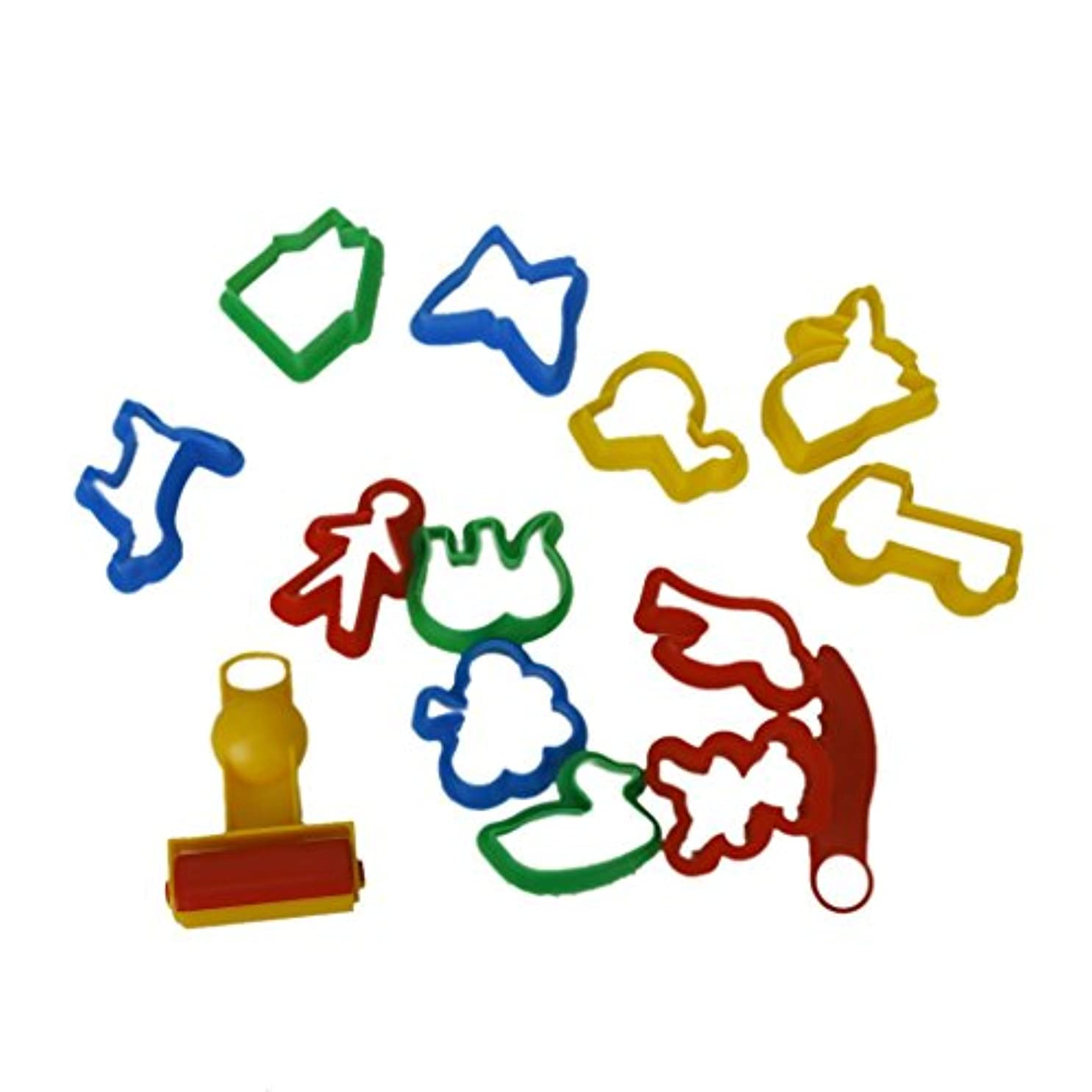 SODIAL(R) セットの多色プラスチック製クッキーカッター 金型用具 様々な動物の植物の形付き