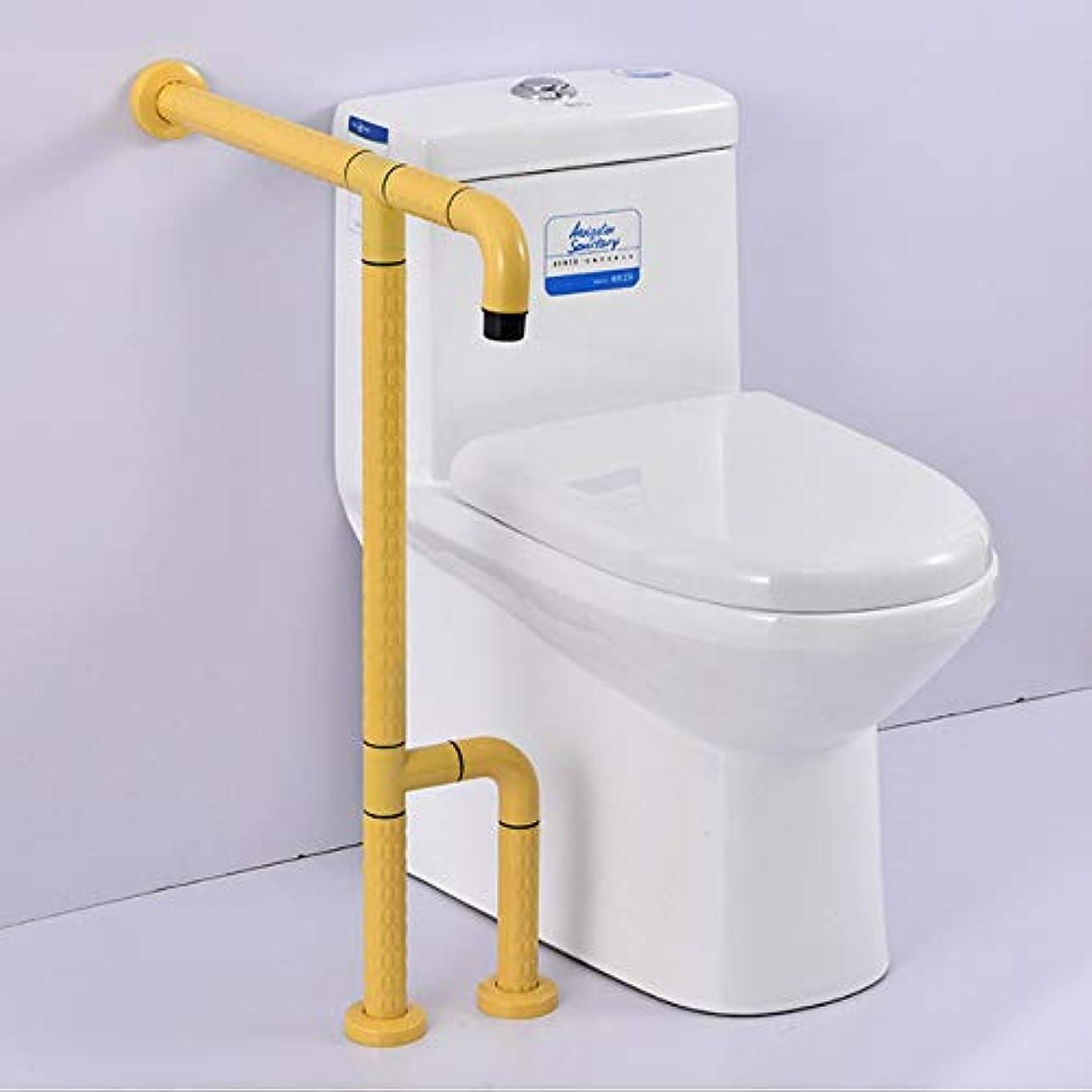 お手伝いさん回る低い高齢者のバランスT形トイレの安全フレームレールは家やホテルの環境にやさしい素材のステンレス鋼のためのサポートロッドを処理します