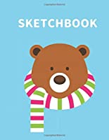 "Sketchbook: A Cute Bear Kawaii Sketchbook for Kids: 100 Pages of 8.5"" x 11""  Large Blank Paper for Drawing, Doodling Painting or Sketching (Xmas Gift)"