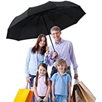 BOY Compact Umbrella Auto Open Close, 210T Dupont Teflon Coated Waterproof Travel Umbrella, 10 Strong Ribs Windproof Golf Umbrella, Unisex&Family