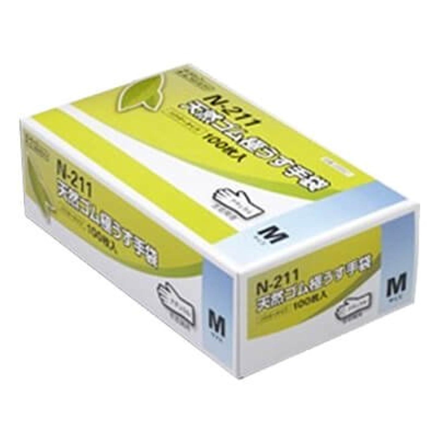 アウターおなじみのおばさん【ケース販売】 ダンロップ 天然ゴム極うす手袋 N-211 M ナチュラル (100枚入×20箱)