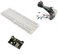 MB102電源モジュール3.3V 5V + 65PCSジャンパーケーブル+ブレッドボードボード830ポイント