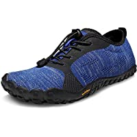 TSLA Men's Barefoot Training Running Minimalist Trail Shoes