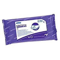 "Kimtech Pure W4 PreSat Alcohol Wipers (06070),70% IPA,with Anti-Stat Resealable Double-Bag Pouch,11"" x 9"",White,10 Packs of 40 Wipes/Case (400 per case) [並行輸入品]"