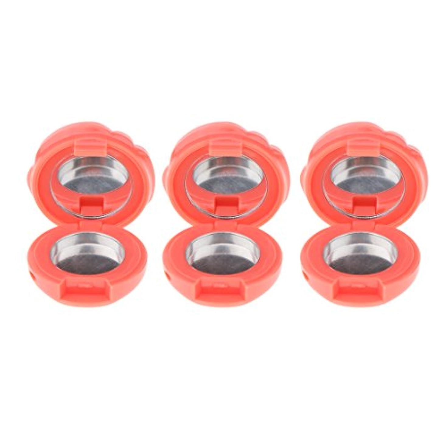 カエル歯痛フェミニンPerfeclan 3個入 空ケース コスメ 詰替え 小分け容器 メイクパレット パウダー アイシャドー ブラッシュ リップグロス DIYケース 全6色 - グレープフルーツ色