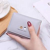 財布 センターカット ファスナー レディース財布 カード入れ付き バックル フリンジ レディース ウォレット 韓風 女性用 パスポートケース 二つ折り ファション 革財布 手提げ 小銭入れ 個性 ラウンドファスナー ポーチ 品質S級 (Color : 4)