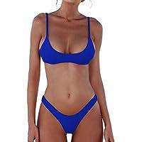 DaiLiWei Womens Swimsuits 2 Pcs Brazilian Top Thong Bikini Set High Waisted Bathing Suits for Women