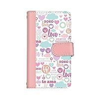 シンプルスマホ4 707SH 国内生産 カード スマホケース スマホカバー 手帳型 携帯ケース 携帯カバー SHARP シャープ シンプルスマホフォー 【A.ピンク】 LOVE ピンク best_vc-411
