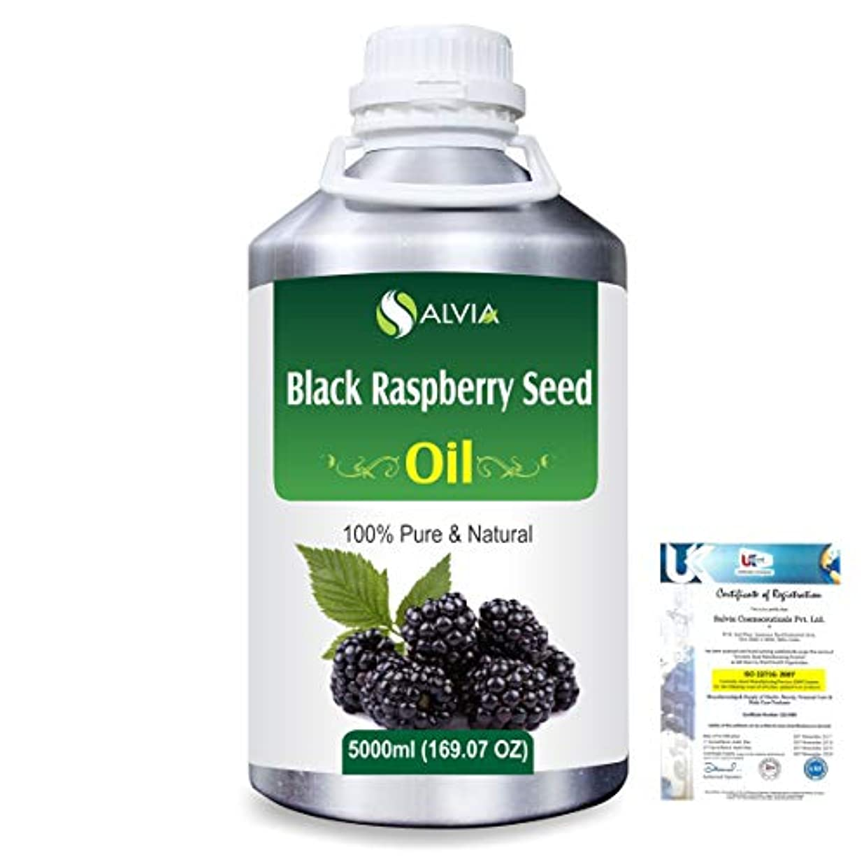 Black Raspberry Seed (Rubus occidentalis)100% Natural Pure Carrier Oil 5000ml/169 fl.oz.
