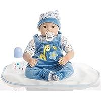 NPK Collection リボーン ベビードール リアル赤ちゃん人形 ビニール シリコン 22インチ 55cm 新生児 本物そっくり おしゃぶり 可愛い 男の子 ブルー