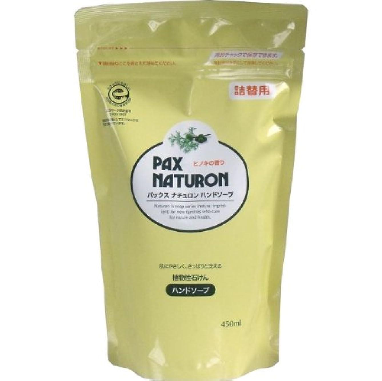 許さない反動筋肌にやさしく、さっぱりと洗える植物性石けん!植物性ハンドソープ 詰替用 450mL