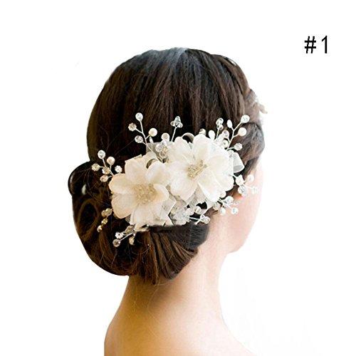 [해외](샤이닝 걸스) shining girls 머리 장식 진주 크리스탈 꽃 신부 피로연 결혼식 정장 파티 기모노 드레스 헤어 액세서리/(Shining Girls) shining girls Hair Ornaments Pearl Crystal Flower Bridesmaid Dresses Wedding Formal Party Kimono Dress ...