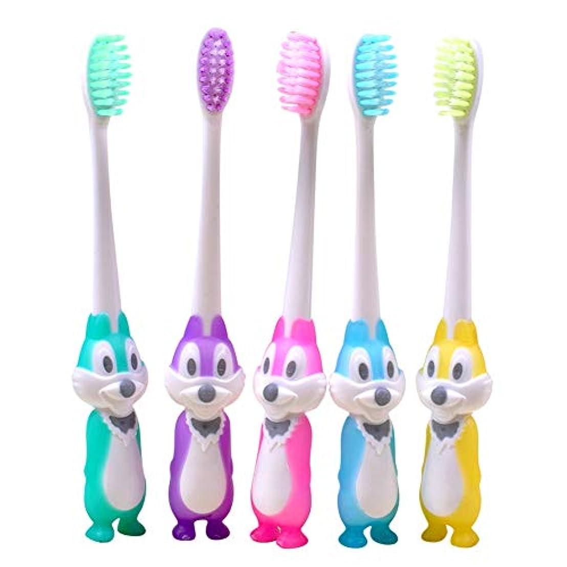 公園クロール同時Rad子供 赤ちゃん漫画形状ソフト歯ブラシ子供歯科口腔ケアブラシツール歯ブラシ