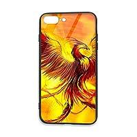 フェニックス ガラス スマホケースiPhone 8 Plus ケース/iPhone 7 Plus ケース 携帯カバー アイフォン7 Plus バー アイフォン8 Plusカバー 滑り止め おしゃれ 軽量 薄型 人気 オリジナル機感