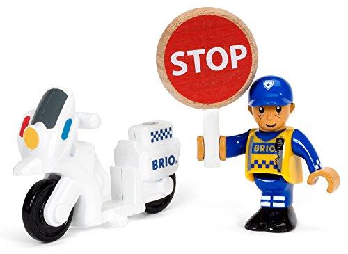 [해외]BRIO 폴리스 자전거와 드라이버 33861/BRIO Police Bike and Driver 33861