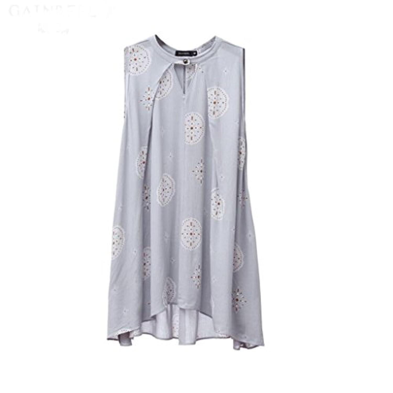 GAODUZI 夏の新しい甘いかわいい快適なカジュアルスリーピングスカートレディースパジャマファッションホームサービスドレス