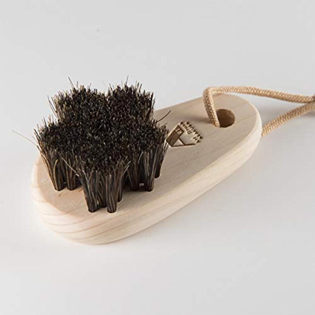 ゴシップバリアズームインする浅草アートブラシ 馬毛のフットブラシ「さくら」