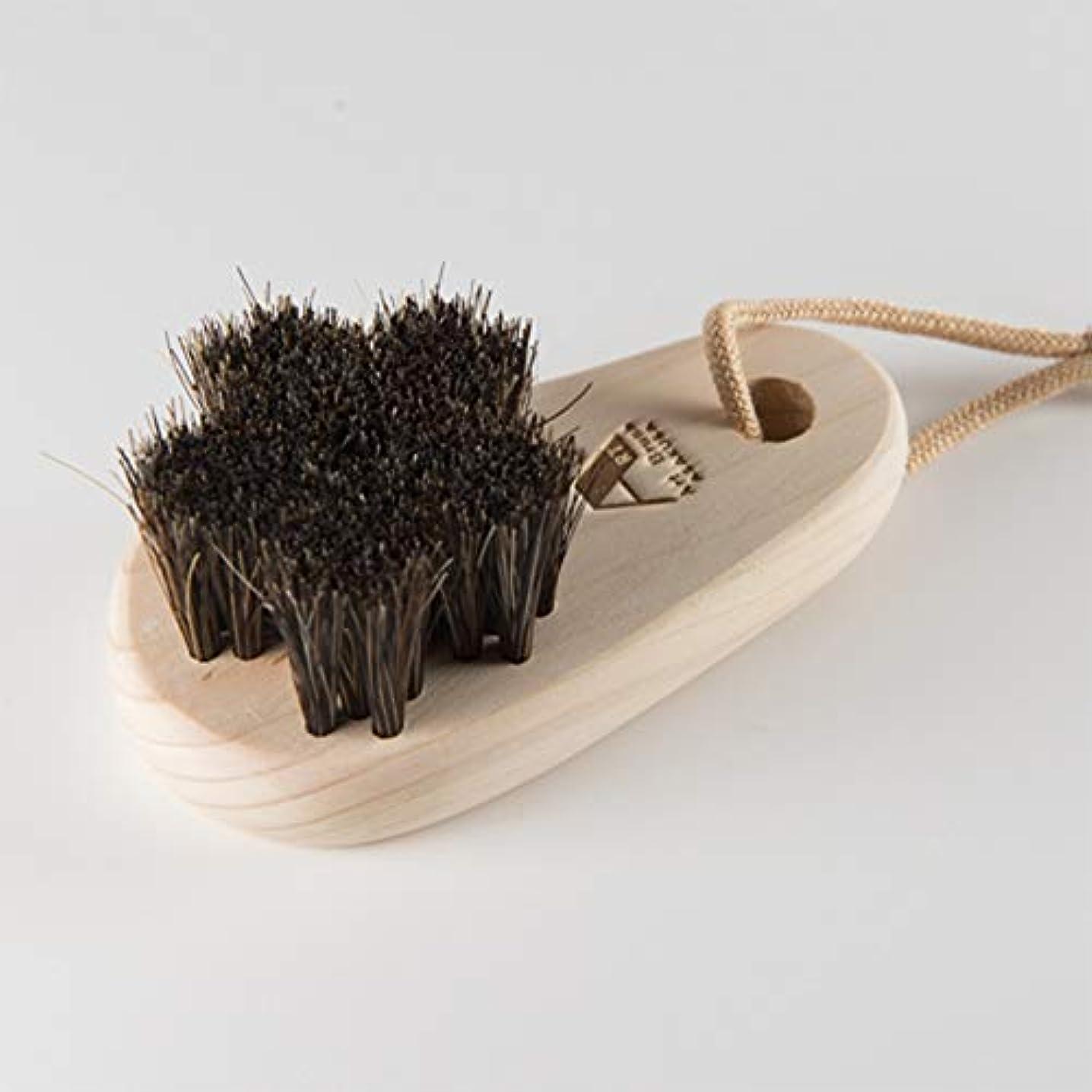 つかまえる過剰底浅草アートブラシ 馬毛のフットブラシ「さくら」