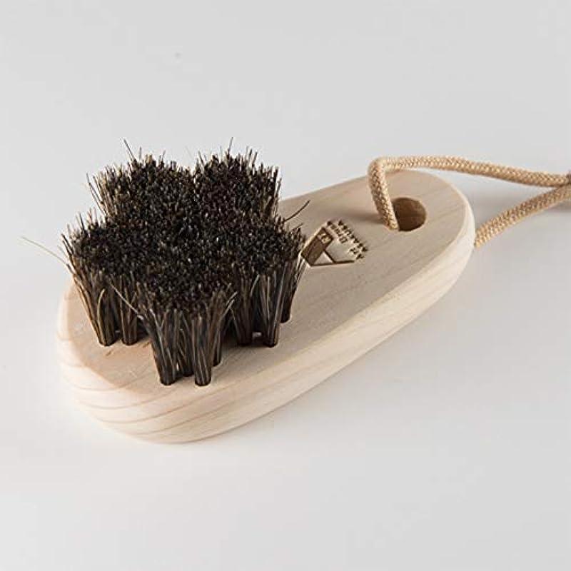 月曜ハーフ分類する浅草アートブラシ 馬毛のフットブラシ「さくら」