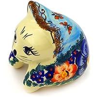 ポーランド食器棚Sitting Cat Figurine 3-inch Unikat