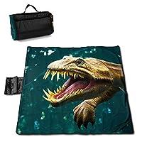 レジャーシート 厚手 ピクニックマット 恐竜 (1) キャンプマット 145*150cm 防水 防潮 断熱シートピクニックマット 花火大会/お花見/運動/遠足/室内用可能 ハンドバッグに簡単に折りたたむことができます